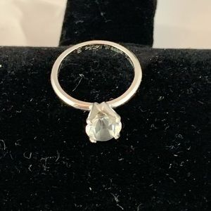 Faux Solitaire Ring -116